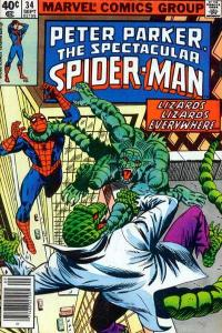 Spectacular Spider-Man (1976 series) #34, VF- (Stock photo)