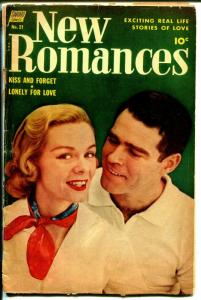 New Romances #21 1954-Standard-final issue-fabulous art-photo cover-G