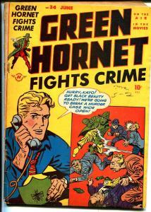 Green Hornet  #34 1947-Harvey-Man in Black-Blonde Bomber-Bob Powell-VG