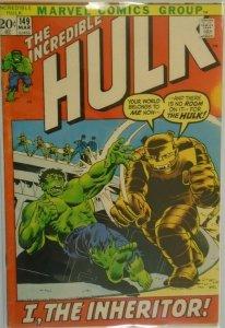 The Incredible Hulk #149 - 4.0 VG - 1972