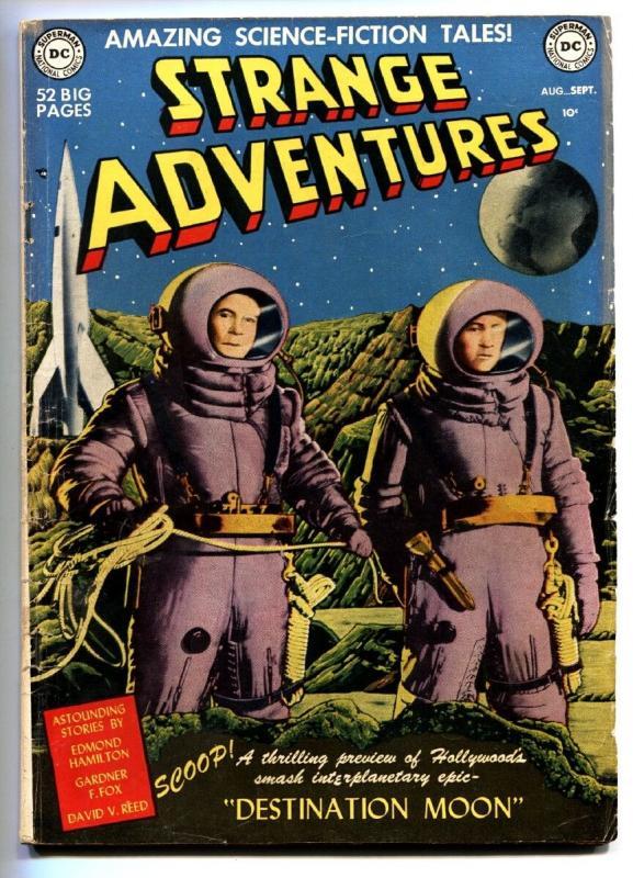 STRANGE ADVENTURES #1 1950 first DC Science Fiction comic book-Destination Moon