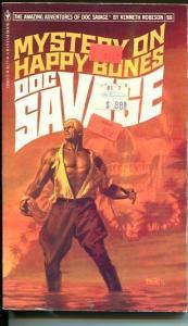 DOC SAVAGE-MYSTERY ON HAPPY BONES-#96-ROBESON-FN-BOB LARKIN COVER-1ST EDTION FN