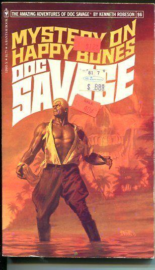 DOC SAVAGE-MYSTERY ON HAPPY BONES-#96-ROBESON-FN-BOB LARKIN COVER-1ST EDTION FN