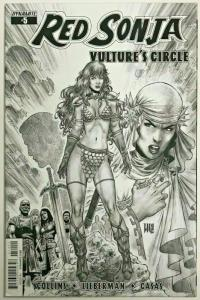 RED SONJA VULTURE'S CIRCLE#5 NM 2014 VARIANT EDITION 1 IN 20 DYNAMITE COMICS