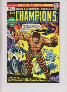 the Champions #1 VF/NM ghost rider - black widow - angel - iceman hercules 1975