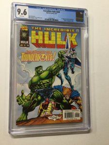 Incredible Hulk 449 Cgc 9.6 White Pages 1st Thunderbolts Marvel