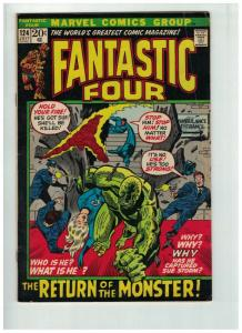 FANTASTIC FOUR 124 VG+ July 1972