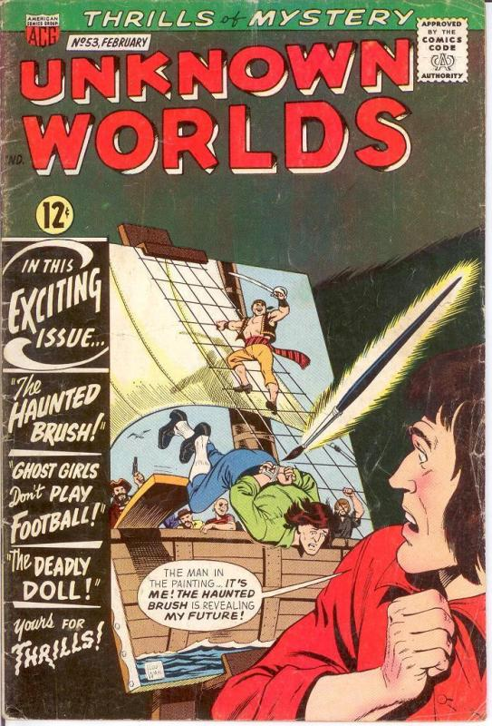 UNKNOWN WORLDS (1960-1967 ACG) 53 VG Feb. 1967 COMICS BOOK