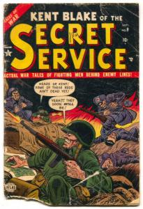 Kent Blake of The Secret Service #9 1952-Atlas- bargain copy