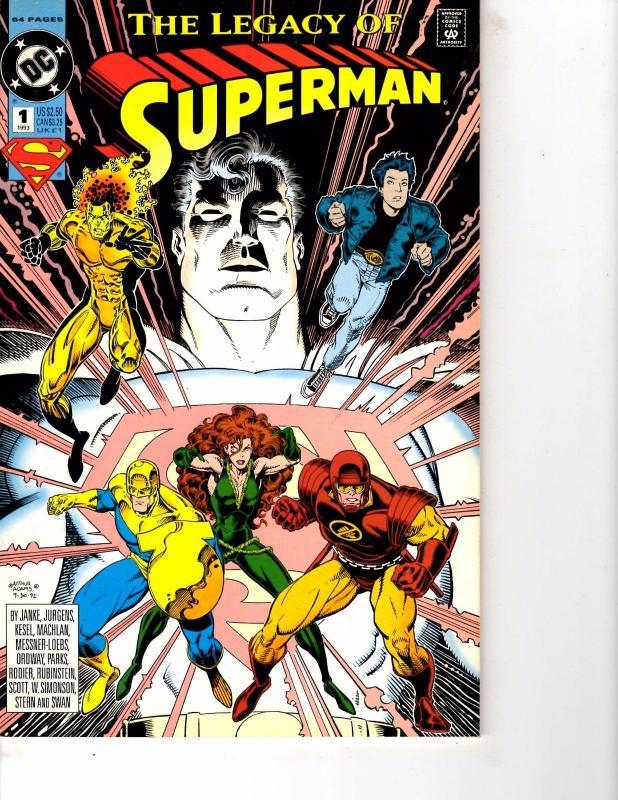 Lot Of 2 DC Comics Legacy Superman #1 and Kitchen Sink Comics Mr ...
