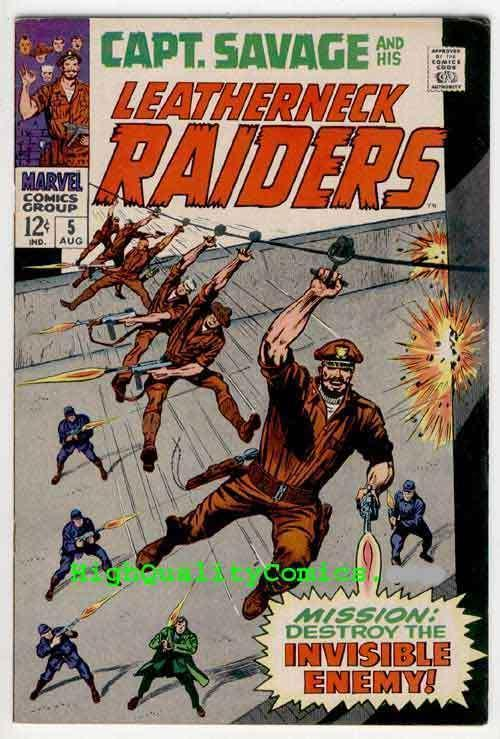 CAPTAIN SAVAGE #4-5, Leatherneck Raiders, Baron Strucker, 1968, Dick Ayers