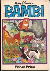 Bambi #3113T 1980's-Fisher-Price-trade paperback format-Disney-VG+