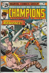 Champions, The #5 (Apr-76) VF/NM High-Grade Ghost Rider, Hercules, Black Wido...