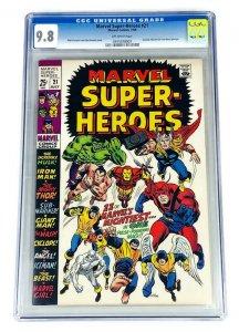 MARVEL SUPER HEROES #21 CGC 9.8 SINGLE HIGHEST GRADED 1969 NM/MT AVENGERS X-MEN