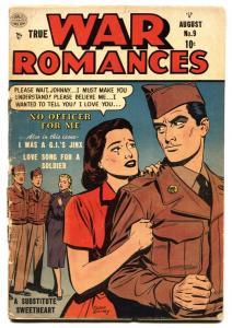 TRUE WAR ROMANCES #9 1953-QUALITY-GOOD GIRL ART PANELS G