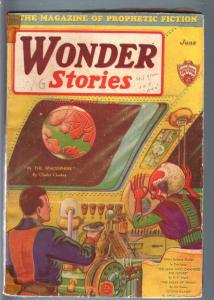 WONDER STORIES 1931 JUN-SCI FI ALIEN PULP-FRANK R PAUL! G/VG