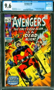 Avengers #89 CGC Graded 9.6 Captain Marvel, Annihilus, Kree Sentry, Ronan and...