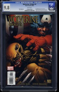 Wolverine: Origins #4 CGC NM/M 9.8 White Pages