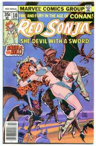 RED SONJA #10, VF+, Robert E Howard, She-Devil Sword, Frank Thorne,1977 1978