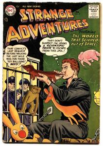 Strange Adventures #77 1957- Balloon animals cover - DC Silver Age