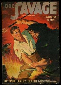 DOC SAVAGE 1949 SUM-RARE LAST ISSUE-HIGH GRADE FN