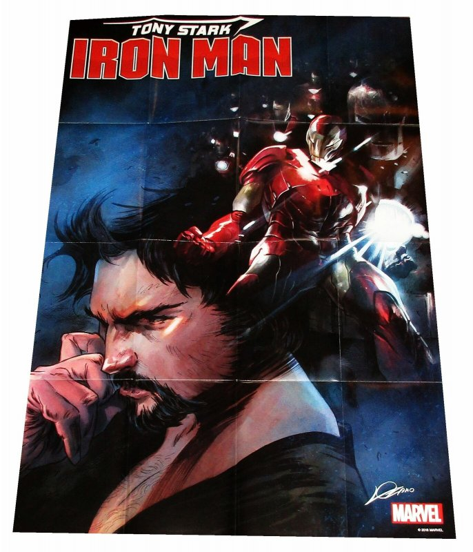 Tony Stark Iron Man Folded Promo Poster (36 x 24) - New!