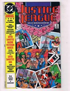 Justice League International Annual #3 VF/NM DC Comics Comic Book 1989 DE46