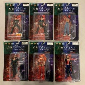 Crimson Action Figures Set of 6 Lisseth Alex Scarlet Joe
