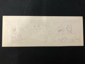 Unpublished Joe Palooka Original Comic Strip Art Pencils Only