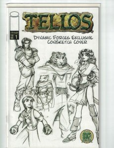 Tellos #1 VF/NM dynamic forces convention sketch cover  w/COA (3,874/5,000)