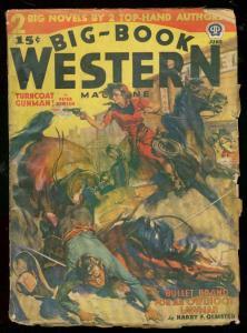BIG-BOOK WESTERN JUNE 1940-WILD COVER-GOOD GIRL ART-GUN G/VG