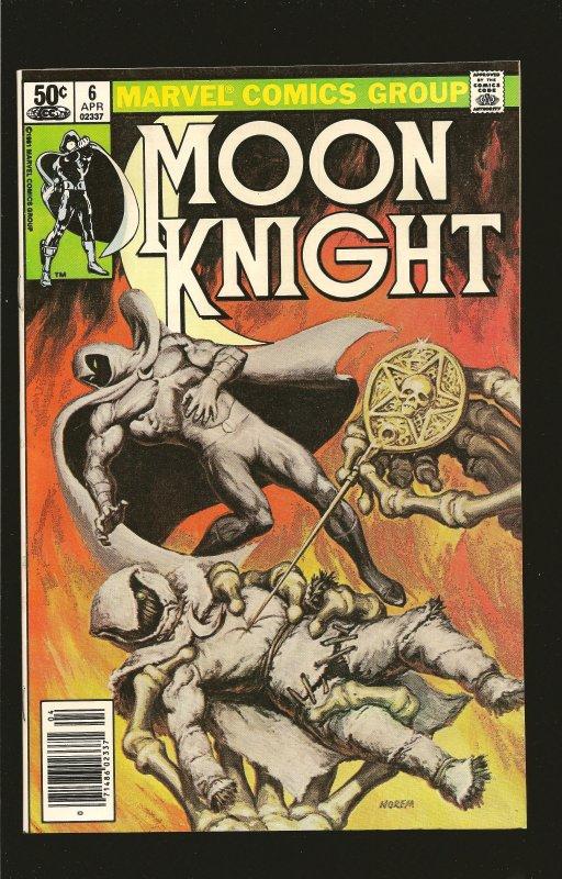 Marvel Comics Moon Knight Vol 1 No 6 April 1981