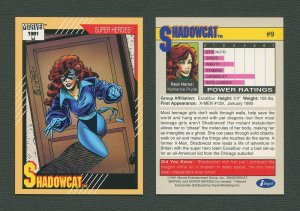 1991 Marvel Comics II  Card  #9 ( Shadow Cat AKA Kitty Pryde)  MINT