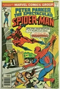 SPECTACULAR SPIDER-MAN#1 VF 1976 MARVEL BRONZE AGE COMICS