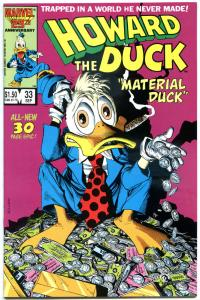 HOWARD THE DUCK #33, NM-, Last issue, Low print run, Mayerik, 1976, Bronze age