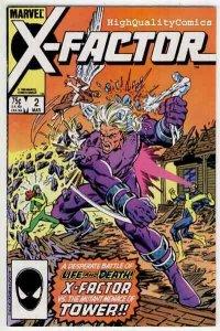 X-FACTOR #2, NM-, Bob Layton, Beast, Marvel Girl, Cyclops, 1986, more in store