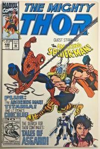 THOR#448 FN/VF 1992 'VS SPIDER-MAN' MARVEL COMICS