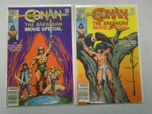 Conan the Barbarian Movie Special set #1-2 starring Arnold Schwarzenegger 6.0 FN