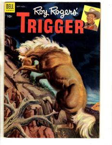 Roy Rogers' Trigger # 10 VF Dell Golden Age Comic Book Western Horse COVER JL18