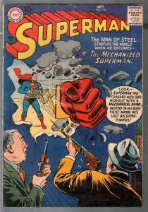Superman #116 1957-DC-Giant fist cover-VG-