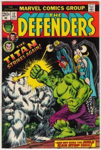 Defenders, The #12 (Feb-74) NM- High-Grade Hulk, Dr. Strange, Namor, Valkyrie