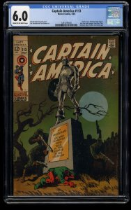 Captain America #113 CGC FN 6.0 Cream To Off White Marvel Comics