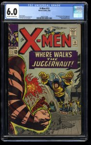X-Men #13 CGC FN 6.0 Off White to White 2nd Juggernaut! Marvel Comics