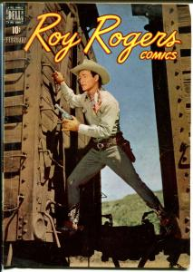 Roy Rogers #14 1949-Dell-photo covers-Dale Evans-VG