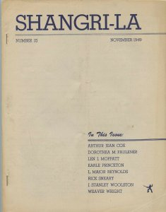 SHANGRI-LA #15 (LASFS Fanzine, November 1949) Rare Zine! Kaiser collection!