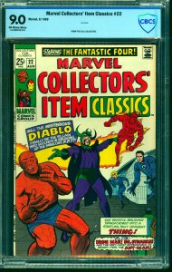 Marvel Collectors' Item Classics #22 CBCS VF/NM 9.0 Off White to White