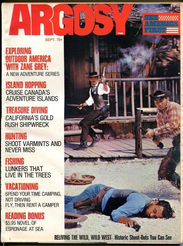 Argosy 9/1972-Popular-Zane Grey-gunfight cover-exploitation-pulp fiction-FN