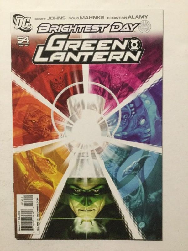 Green Lantern 54 Brightest Day Variant Nm Near Mint