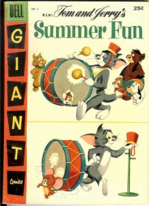 TOM & JERRY SUMMER FUN 4 FVF Dell Giant  July 1957
