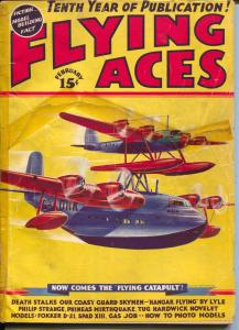 Flying Aces 2/1938-August Schomburg-Philip Strange-Al McWilliams-FR/G